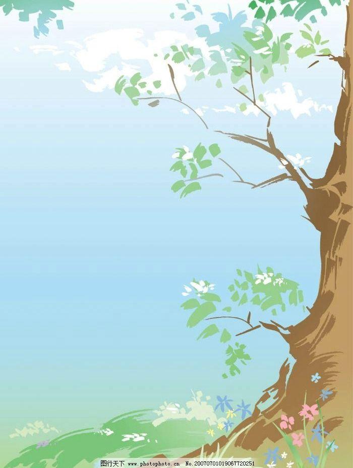 春天大树图片图片