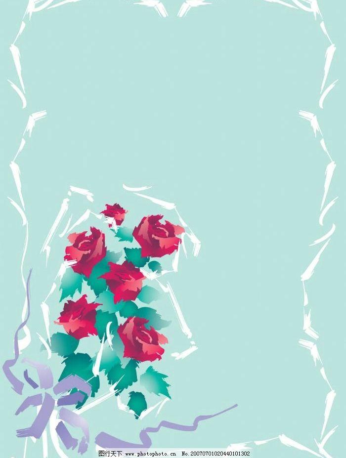 玫瑰花相框图片,边框 精美相框 相框素材 矢量相框-图