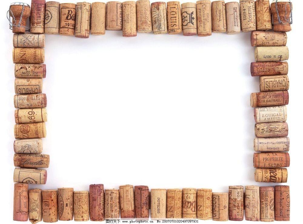 相框素材 边框 相框 照片相框 像框 照片像框 画框 瓶塞 底纹边框
