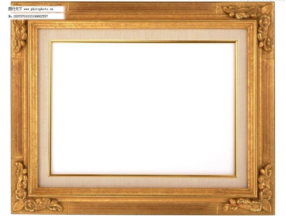 金色像框 边框 边框相框 底纹边框 画框 相框边框 相框素材 金色像框
