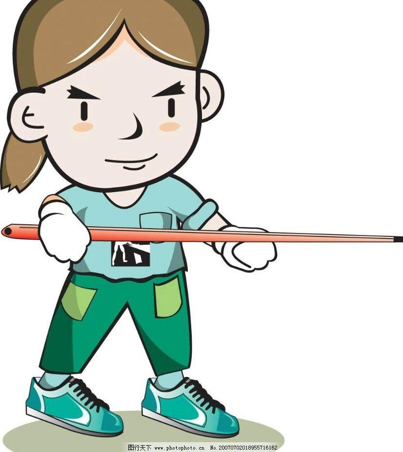 卡通台球运动员 台球 运动 体育 台球选手 卡通 矢量 卡通人物 矢量