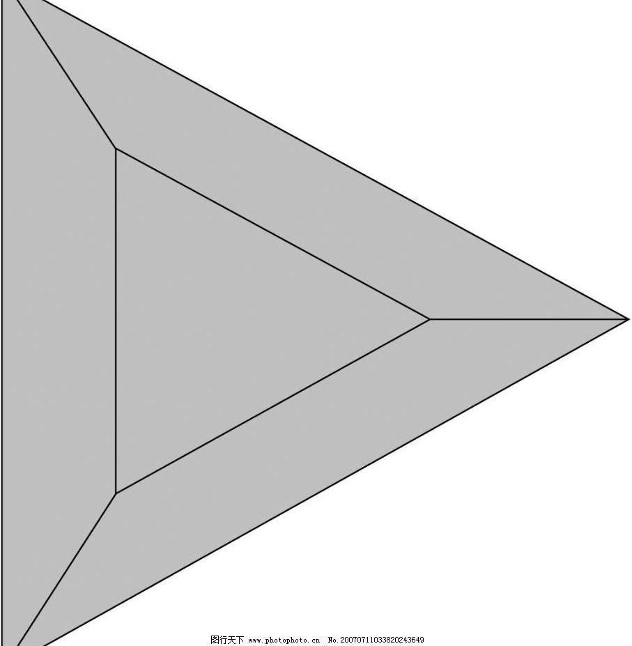 立体正三角 正三角形 立体几何 几何图形 矢量 其他矢量 矢量素材