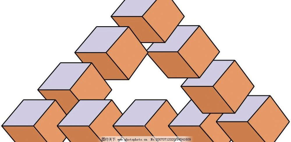 立体设计三角形图片