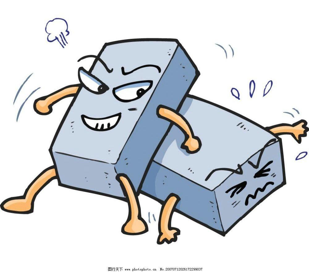 卡通砖 动漫砖块 卡通砖块 工具 漫画 矢量 卡通工具 矢量图库