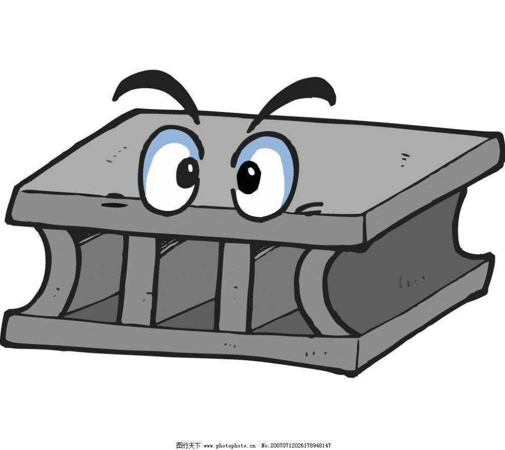 空心砖 动漫砖块 卡通砖块 工具 漫画 矢量 卡通工具 矢量图库