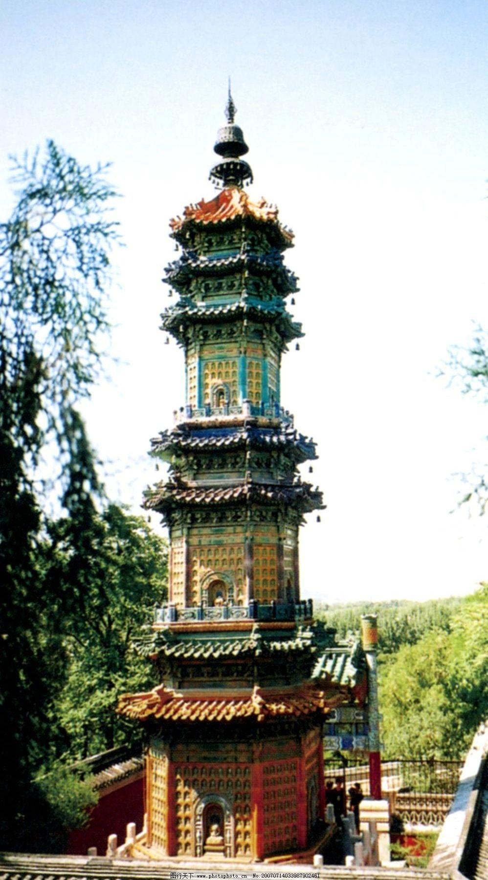 颐和园的古塔 北京颐和园 颐和园 风景 风景名胜 风景区 旅游风景