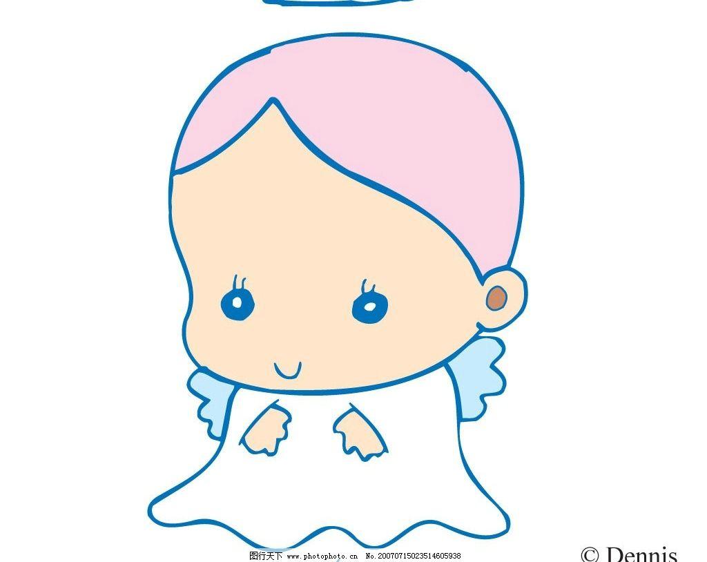 卡通可爱女宝宝图片