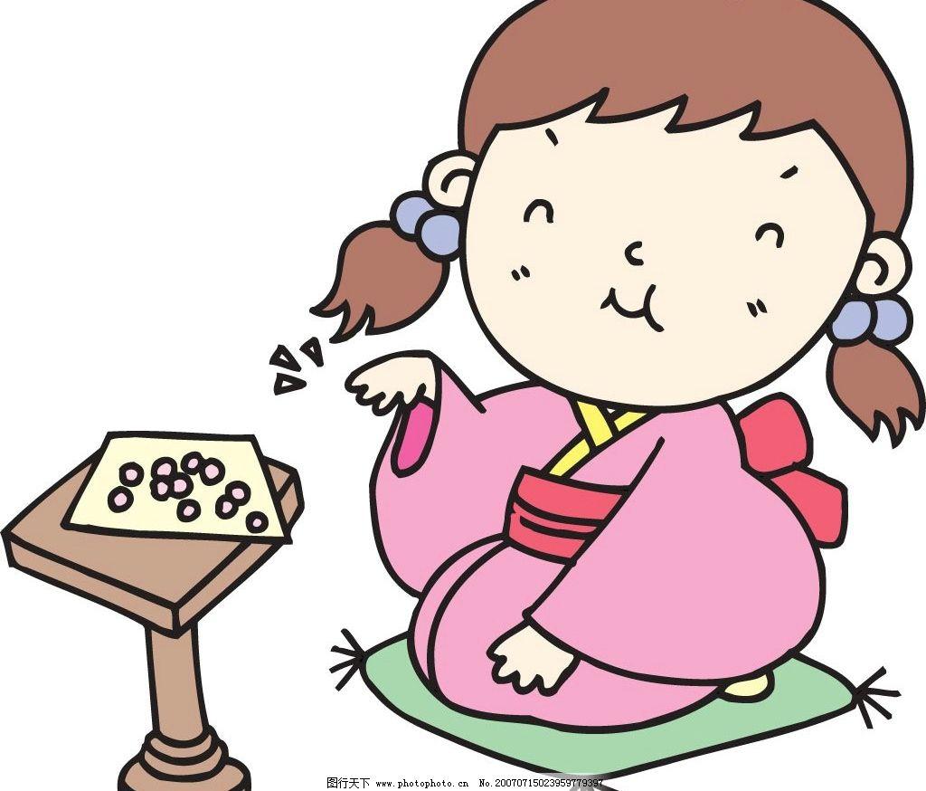 日本卡通可爱萌女孩