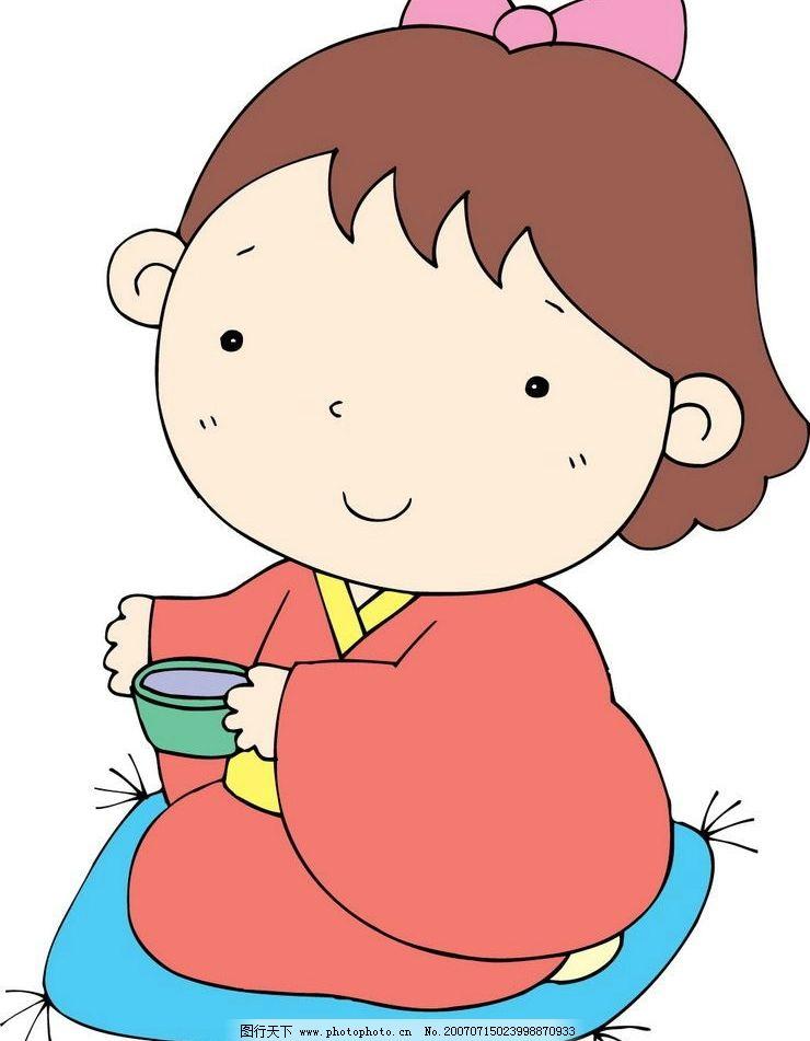 日本女孩卡通 日本卡通 日本人物 卡通人物 矢量人物 卡通 矢量 其他