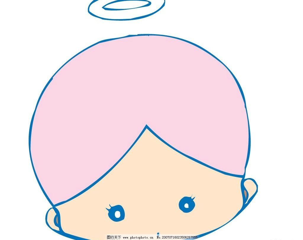 小天使头像卡通 天使 小天使 宝宝 婴儿 儿童 卡通宝宝 卡通婴儿 卡通
