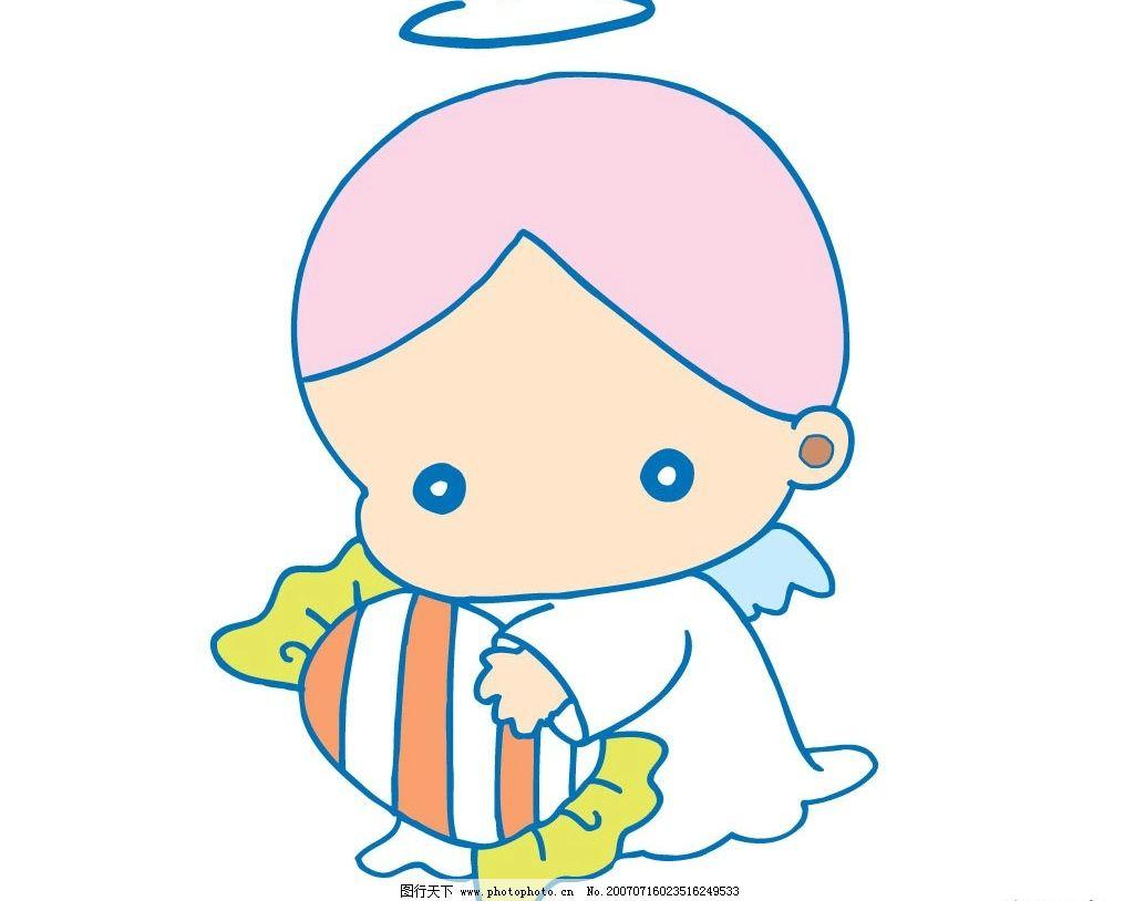 天使矢量图 小天使 宝宝 婴儿 儿童 卡通宝宝 卡通婴儿 卡通儿童