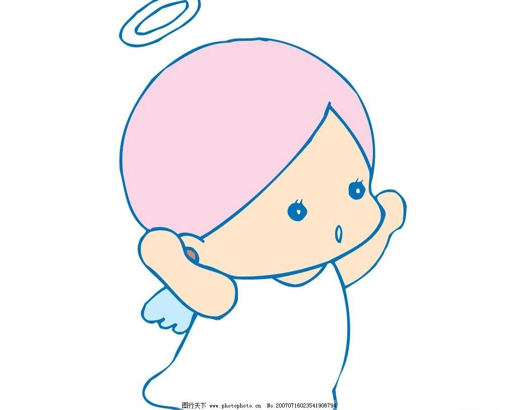 小天使矢量素材 天使 小天使 宝宝 婴儿 儿童 卡通宝宝 卡通婴儿 卡通
