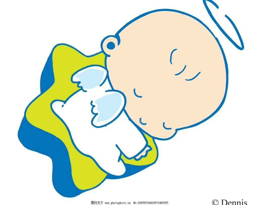 睡觉小天使 宝宝 婴儿 儿童 卡通宝宝 卡通婴儿 卡通儿童 矢量宝宝