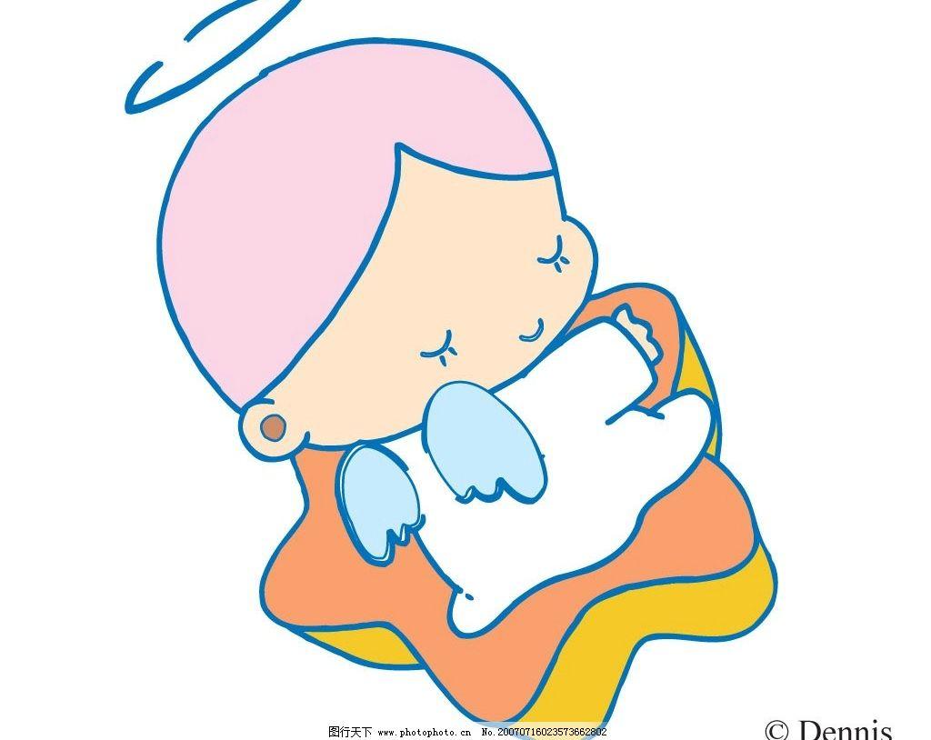 卡通小天使 宝宝 婴儿 儿童 卡通宝宝 卡通婴儿 卡通儿童 矢量宝宝