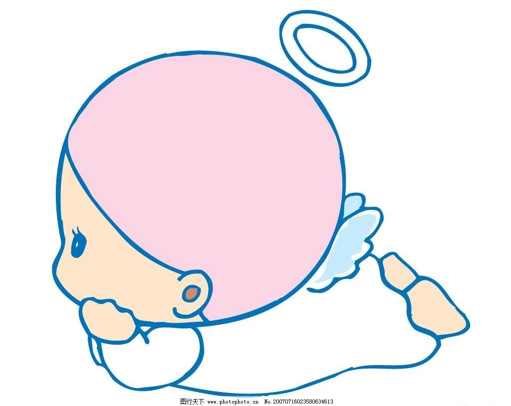 小天使的 宝宝 婴儿 儿童 卡通宝宝 卡通婴儿 卡通儿童 矢量宝宝