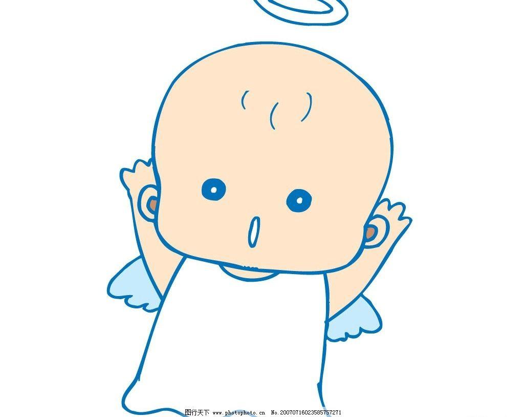 漫画小天使图片,宝宝 婴儿 儿童 卡通宝宝 卡通婴儿
