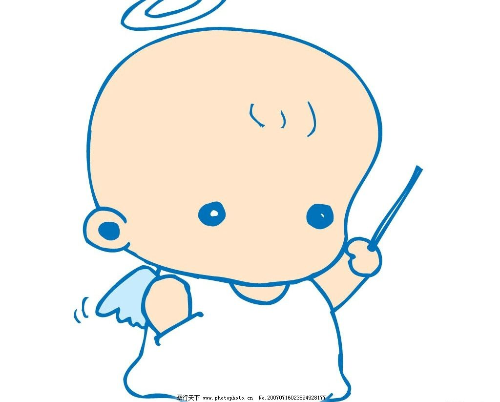小天使卡通图片