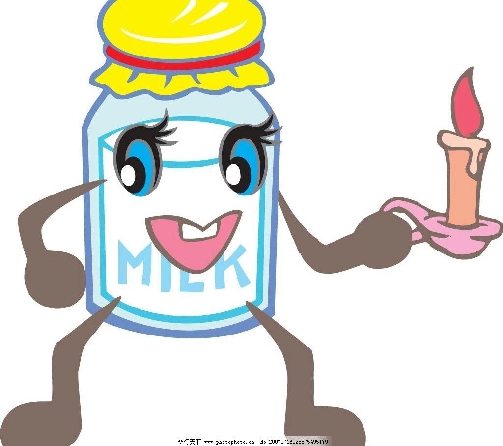 玻璃瓶卡通简笔画-卡通矢量系列 家用物品