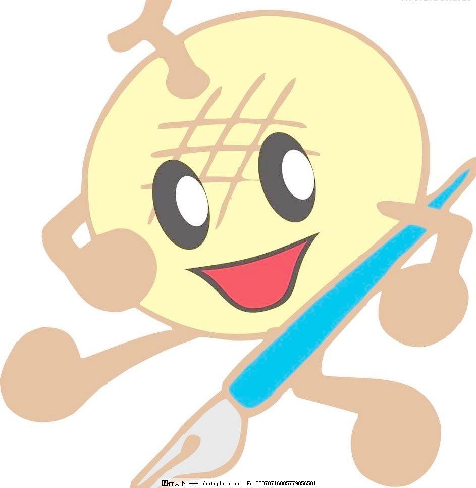 卡通水果 卡通水果图片 梨 漫画 生物世界 矢量水果 黄花梨写字矢量