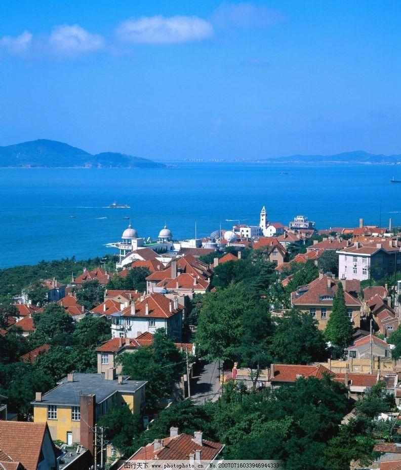 海岛建筑 海边 海岛风景 海边别墅 国内旅游 大连风光 摄影图库