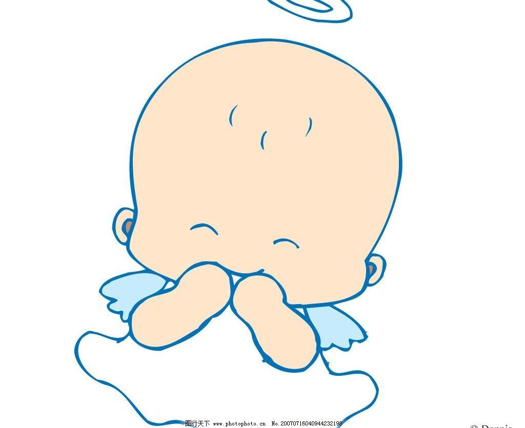 小天使微笑 宝宝 婴儿 儿童 卡通宝宝 卡通婴儿 卡通儿童 矢量宝宝