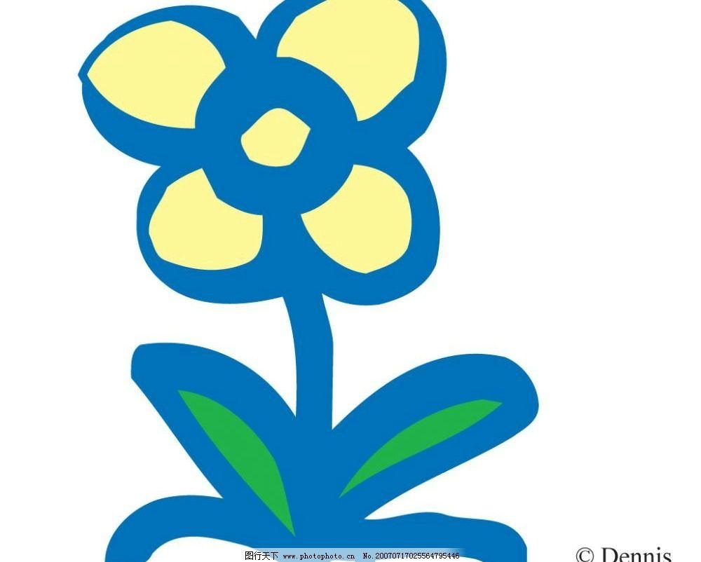 花朵 鲜花 花卉 物品 卡通物品 矢量物品 矢量图库