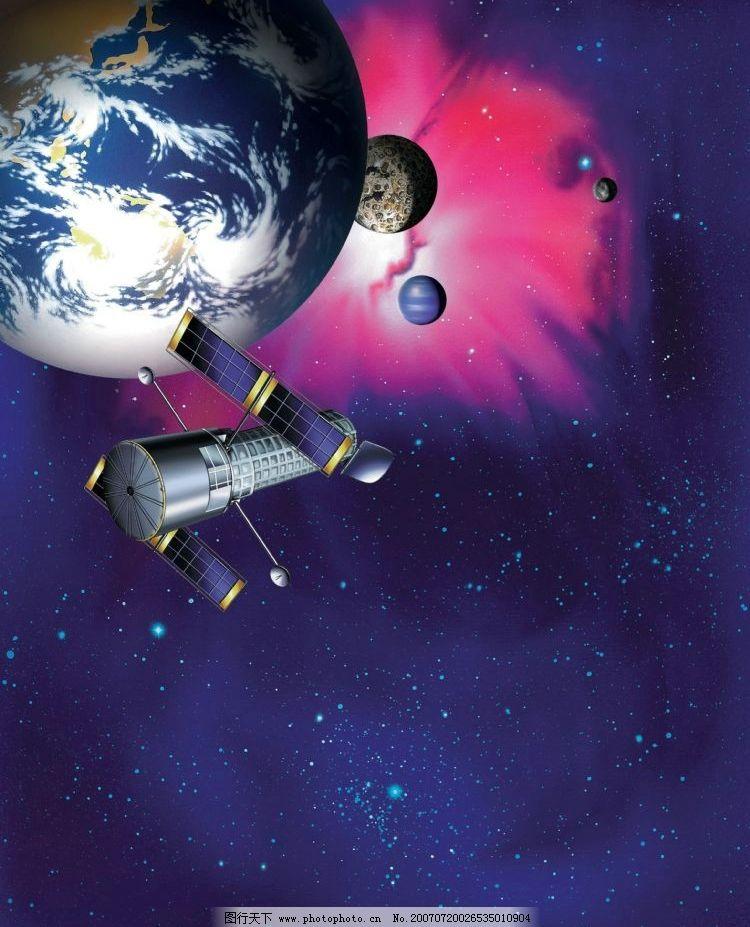 人造卫星和地球图片图片