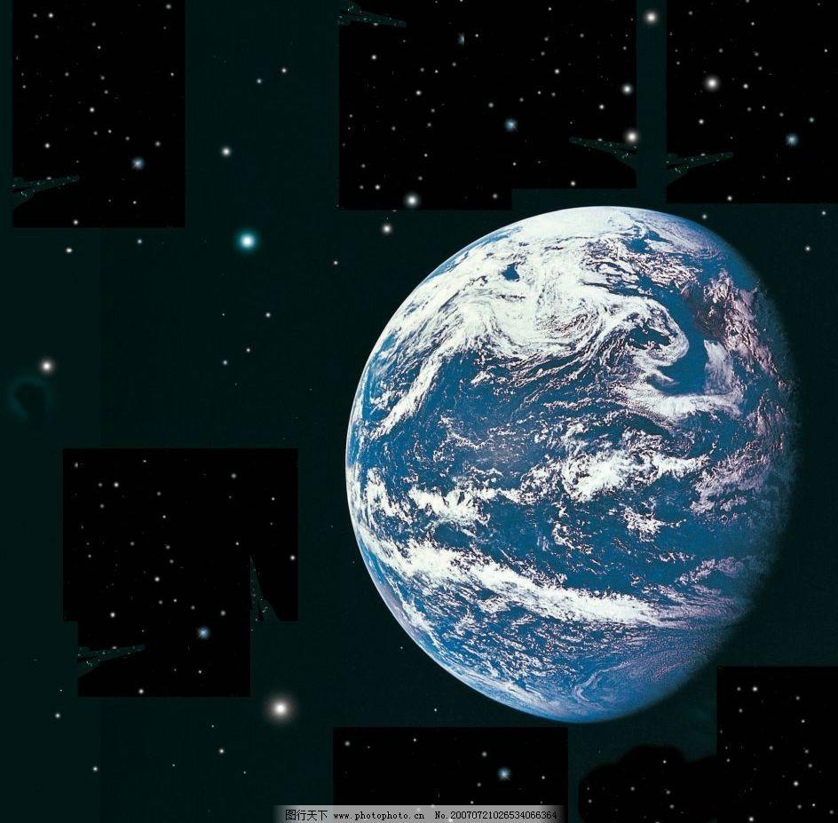 俯视地球的素材图片
