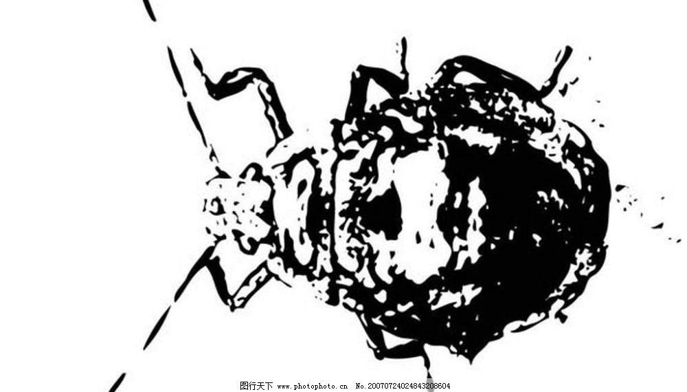 黑白适量昆虫 昆虫 黑白昆虫 黑白素材 黑白画 黑白图 黑白矢量图