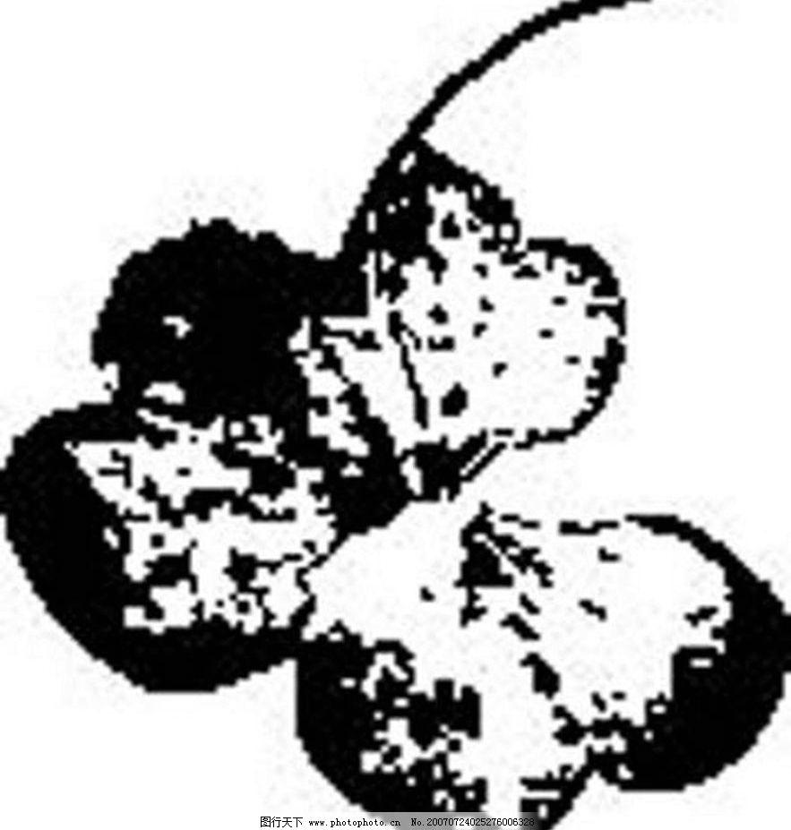 黑白的叶子 树叶 叶子 植物叶子 黑白画 矢量 生物世界 树木 黑白植物