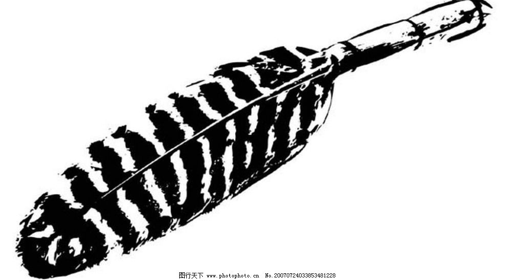羽毛 画 黑白画 矢量 其他矢量 矢量素材 黑白矢量素材 矢量图库 ai