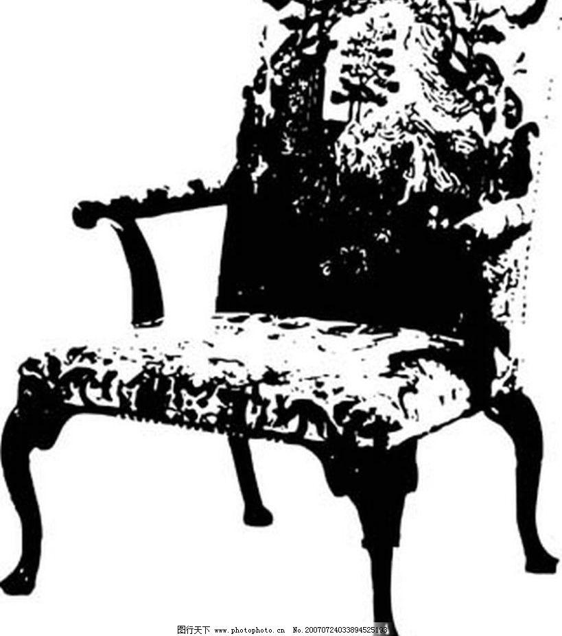 古典椅子 画 黑白画 矢量 其他矢量 矢量素材 黑白矢量素材 矢量图库