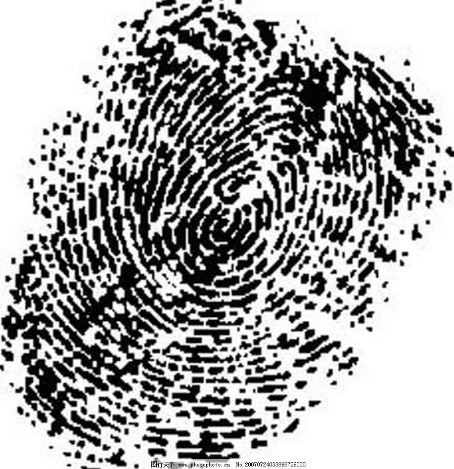 手指印 黑白画 矢量 其他矢量 矢量素材 黑白矢量素材 矢量图库 ai