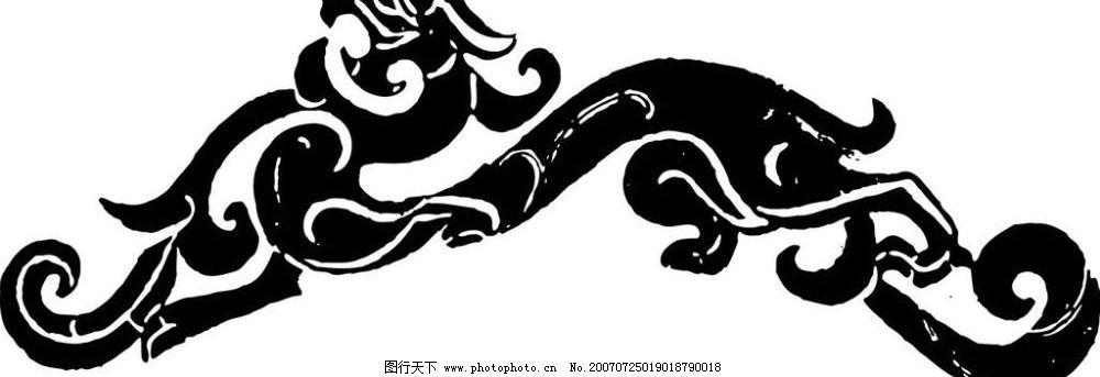 动物壁画 壁画 陶瓷壁画 矢量壁画 矢量 文化艺术 美术绘画 壁画黑白
