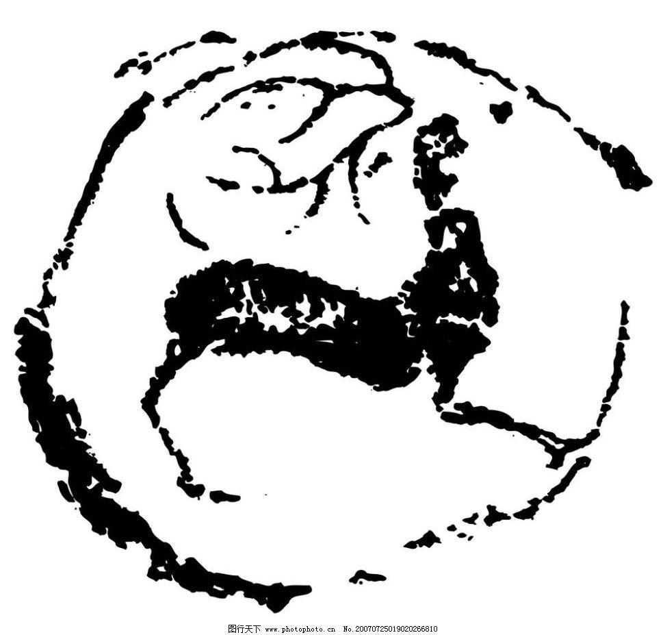画 壁画 陶瓷壁画 矢量壁画 矢量 文化艺术 美术绘画 壁画黑白矢量图