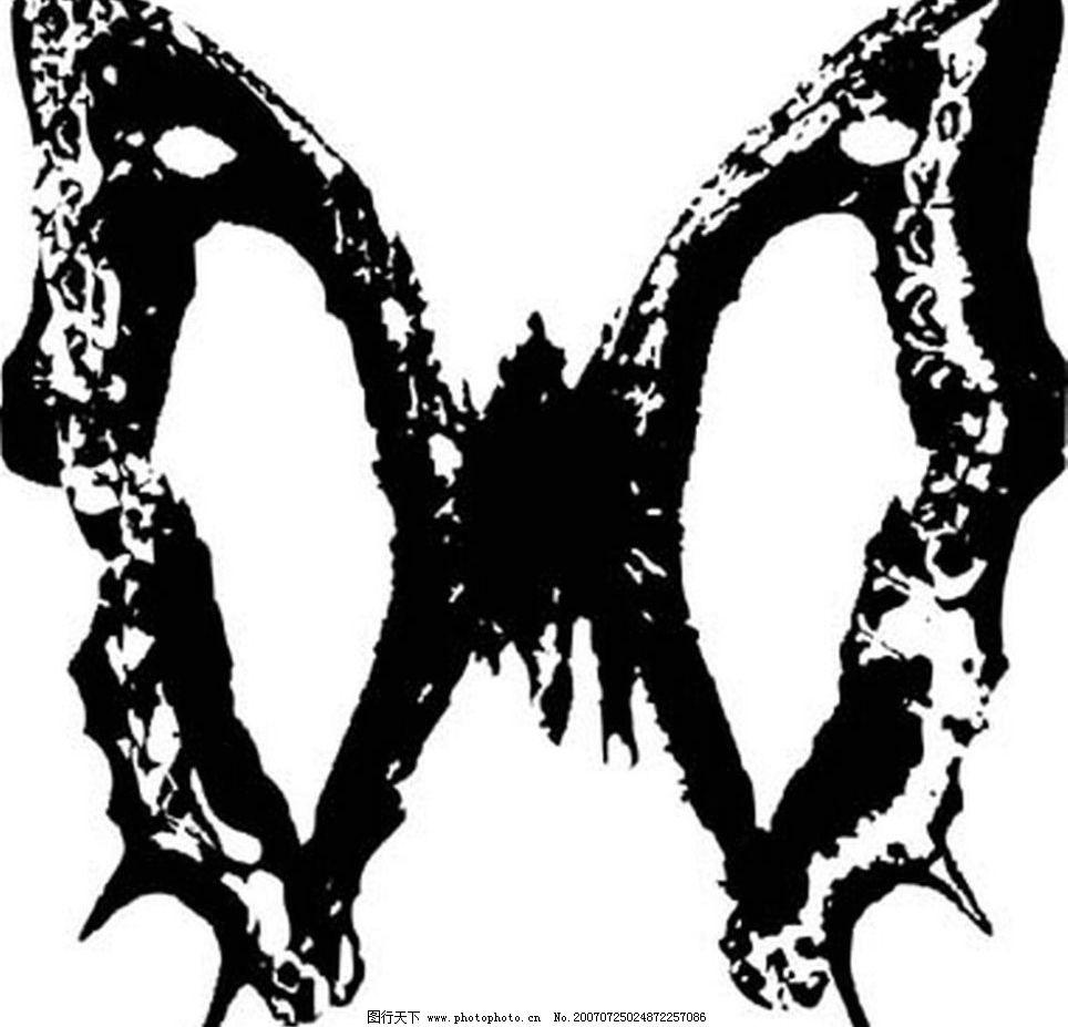蝴蝶素材 蝴蝶 昆虫 黑白昆虫 黑白矢量图 黑白素材 黑白画 黑白图