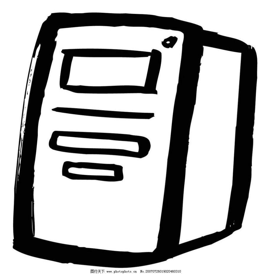 电脑机箱随笔画 画 随笔画 毛笔画 矢量画 矢量 文化艺术 美术绘画 矢