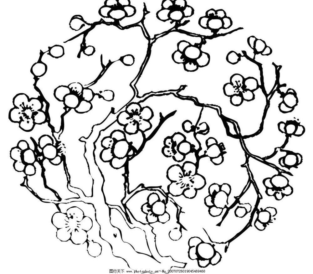 陶瓷壁画 梅花图片