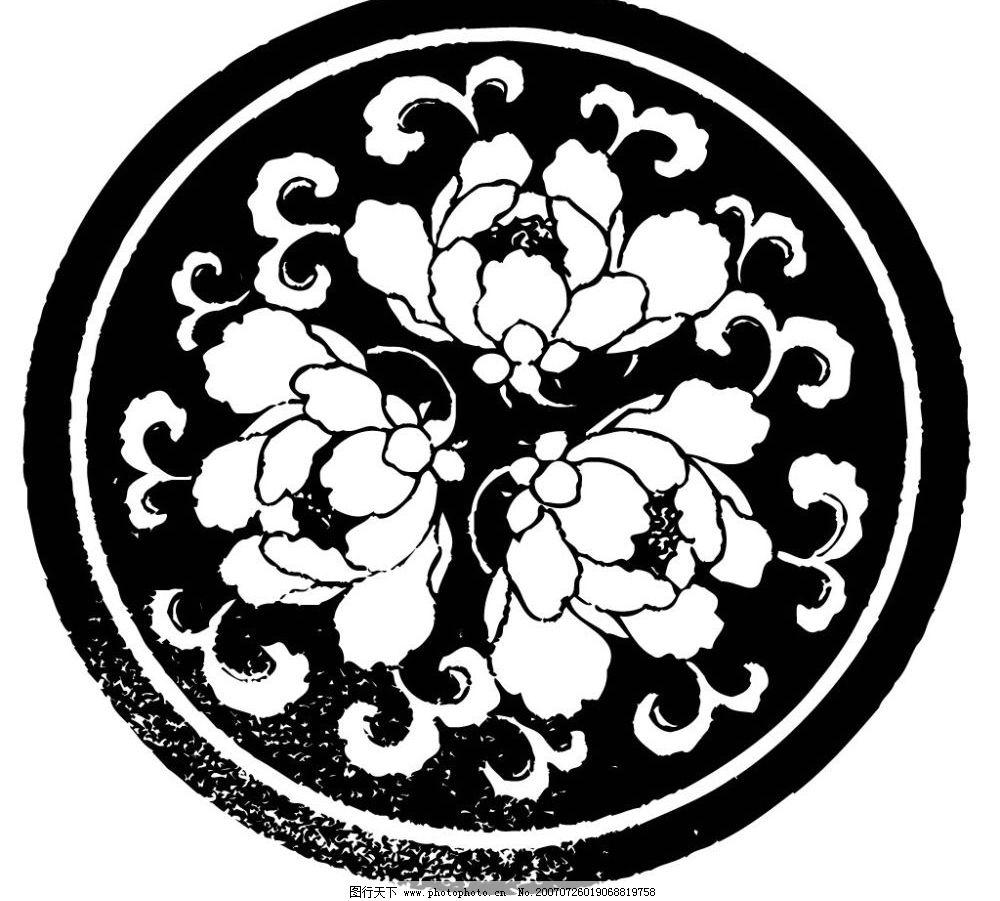 花卉陶瓷壁画图片