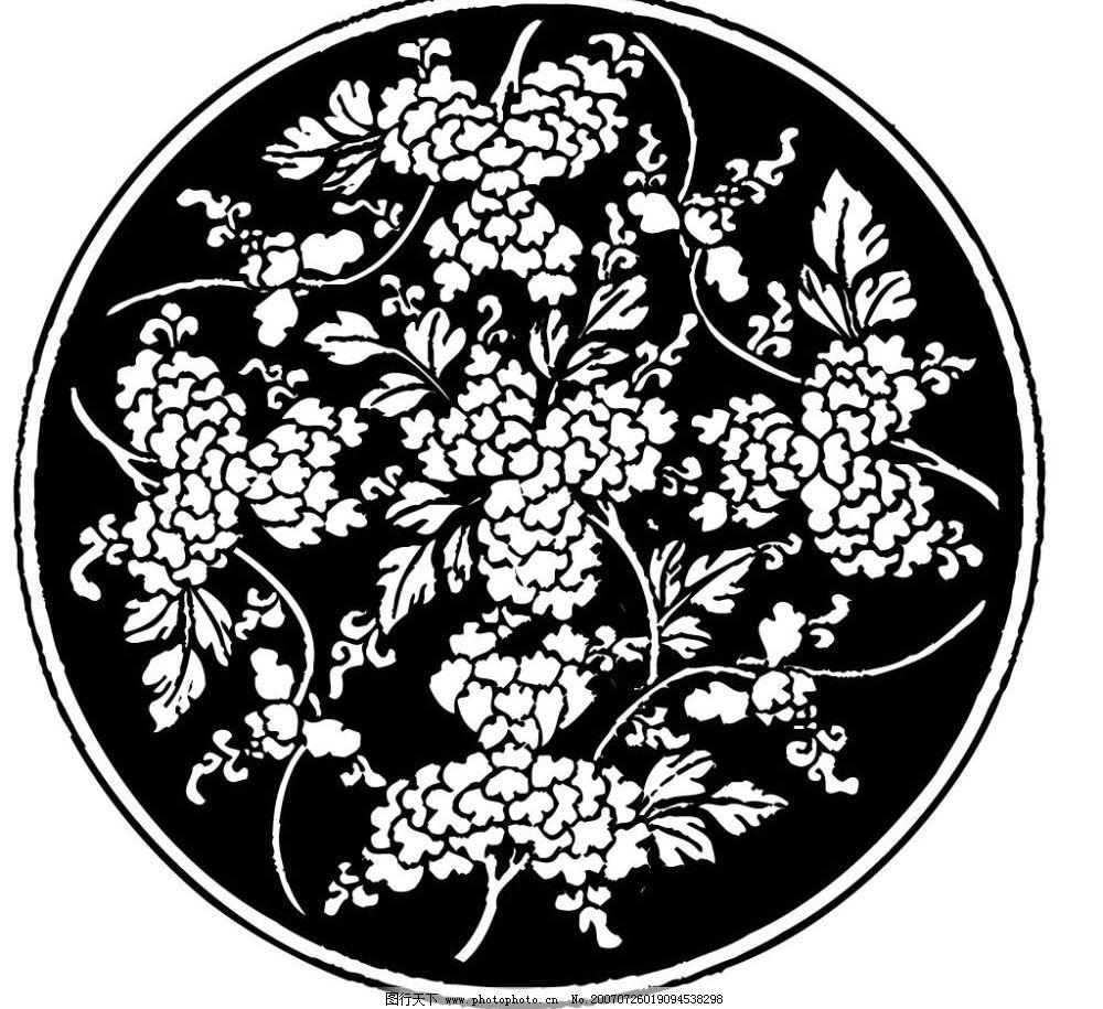 花卉画 画 壁画 陶瓷壁画 矢量壁画 矢量 文化艺术 美术绘画 壁画黑白