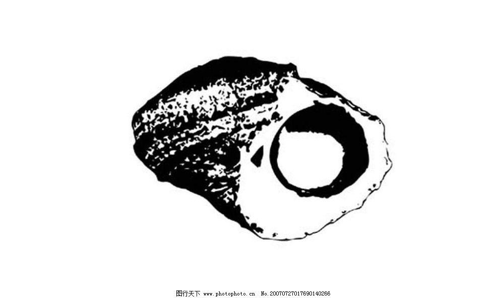 海洋动物黑白画