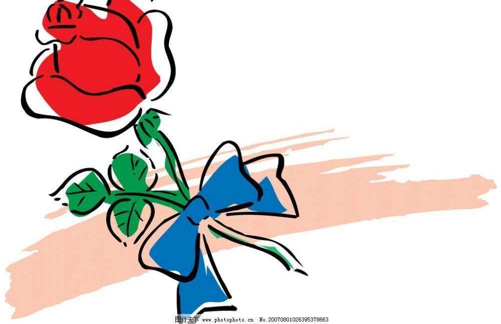玫瑰花 鲜花 花卉 花 爱情 卡通 矢量 生活百科 其他 爱情爱心 矢量图