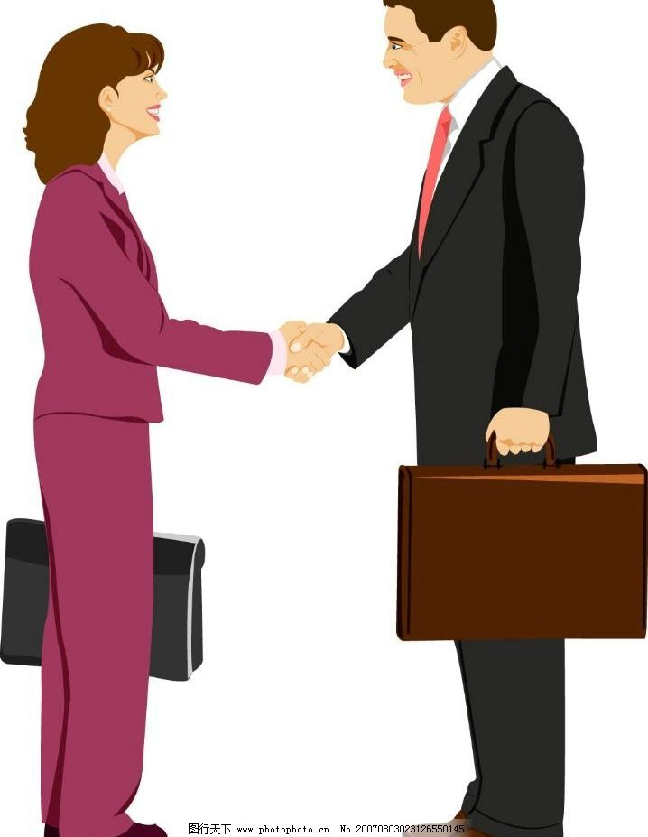 男女握手 职场握手 握手 职场男女 上班族 职场人物 商务人士 矢量