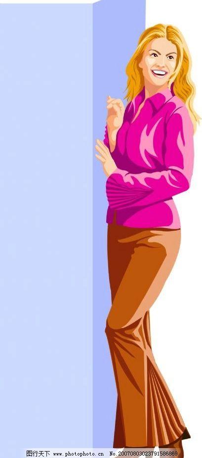 欧美女性矢量图图片