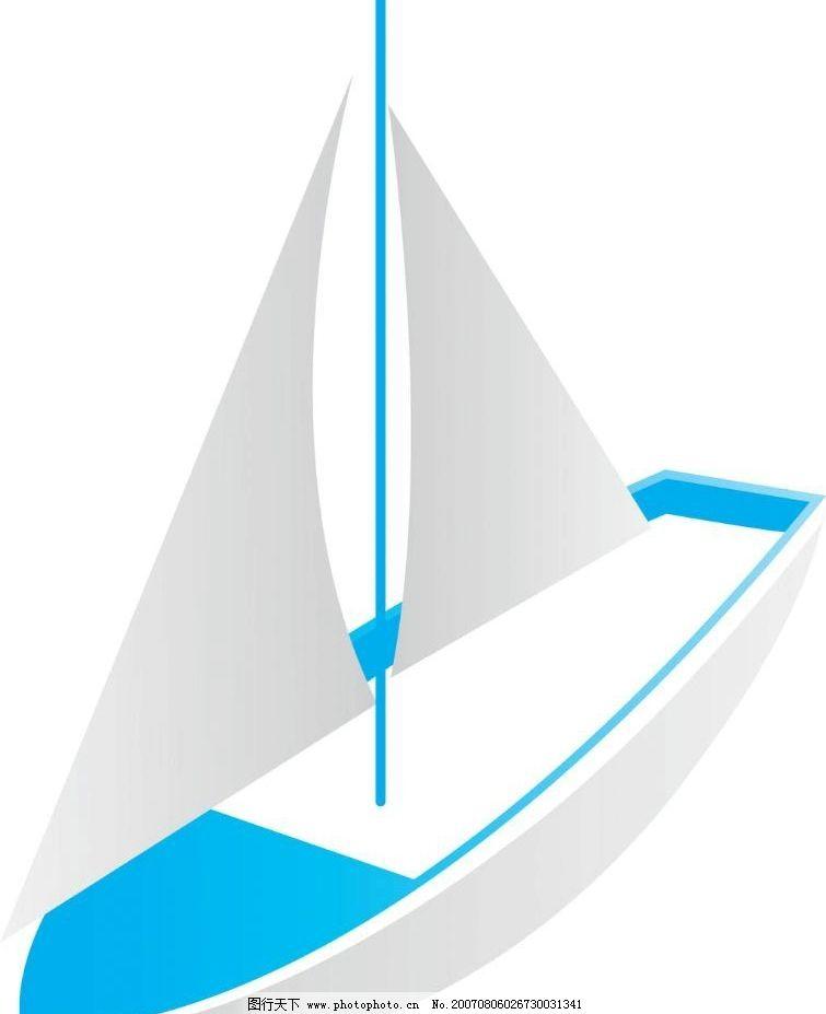 矢量帆船图片