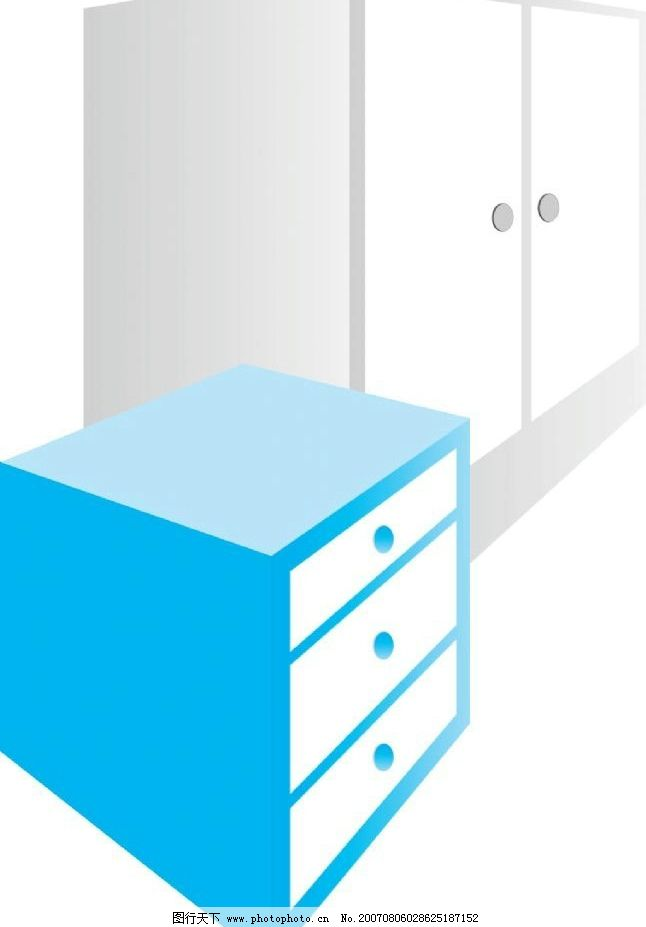 柜子 家具 家具矢量图