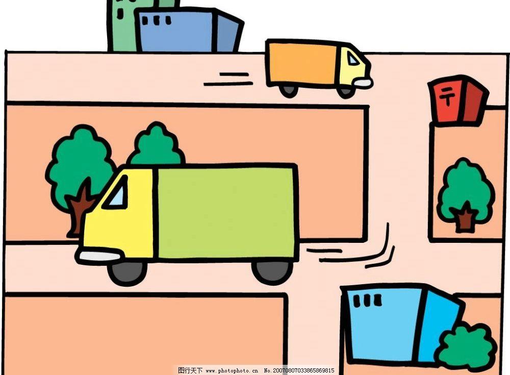货车漫画 卡通 矢量 其他矢量 矢量素材 科技漫画 矢量图库