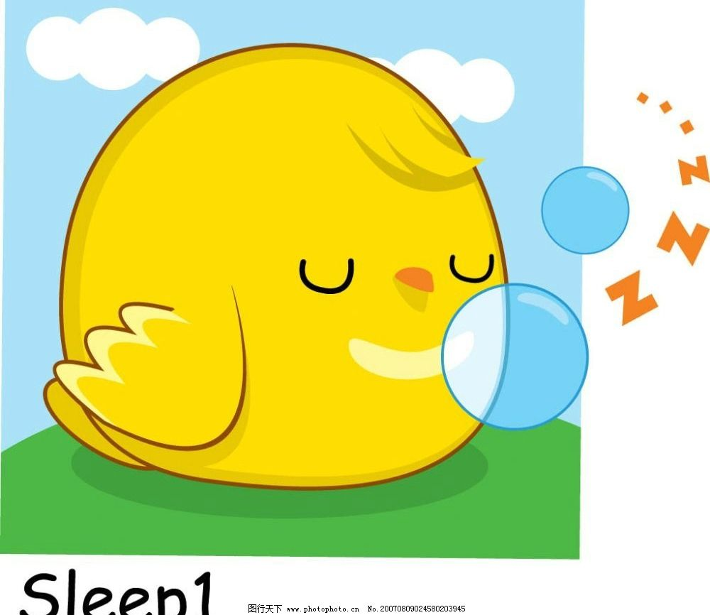 睡眠小鸡图片