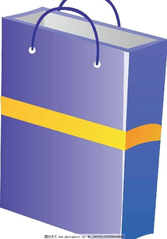 纸袋子 购物袋 袋子 纸袋 生活物品 矢量 矢量图 生活百科 生活用品