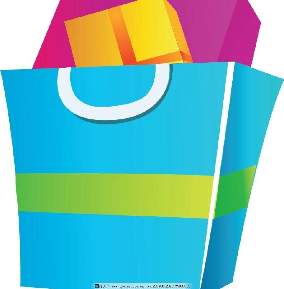 纸袋 购物袋 袋子 生活物品 矢量 矢量图 生活百科 生活用品 矢量图库